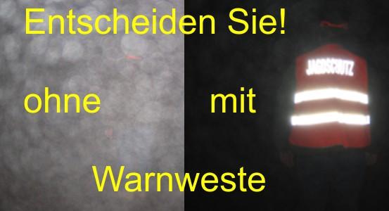 Wirkung der Warnweste